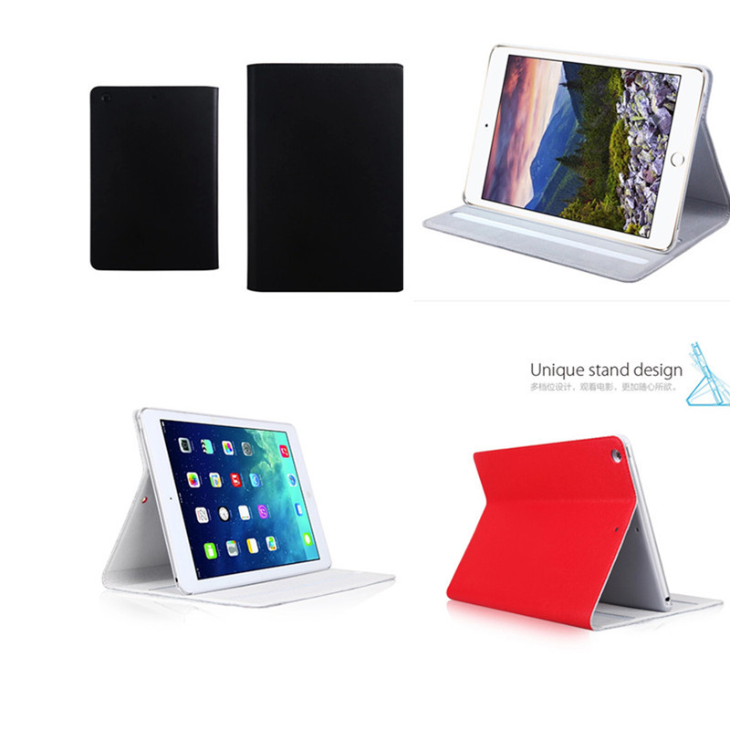 For ipad air 1 / ipad 5 case  Smart Cover Genuine Leather Filp Sleep Stand multi-functions Tablet Case For Apple iPad air1 Cases for apple ipad air 2 pu leather case luxury silk pattern stand smart cover