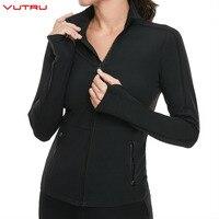 Sport Shirt Fitness Woman Yoga Jacket Zipper Long Sleeve Jackets Tops Quick Dry Gym Cloth Running Sportswear with Earphone Hole