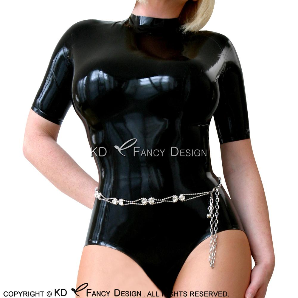 Luggage & Bags Black Sexy Latex Body Suit High Cut Leg With Back Zipper Rubber Catsuit Cat Suit Bodysuit Swimsuit Lty-0129 With The Most Up-To-Date Equipment And Techniques