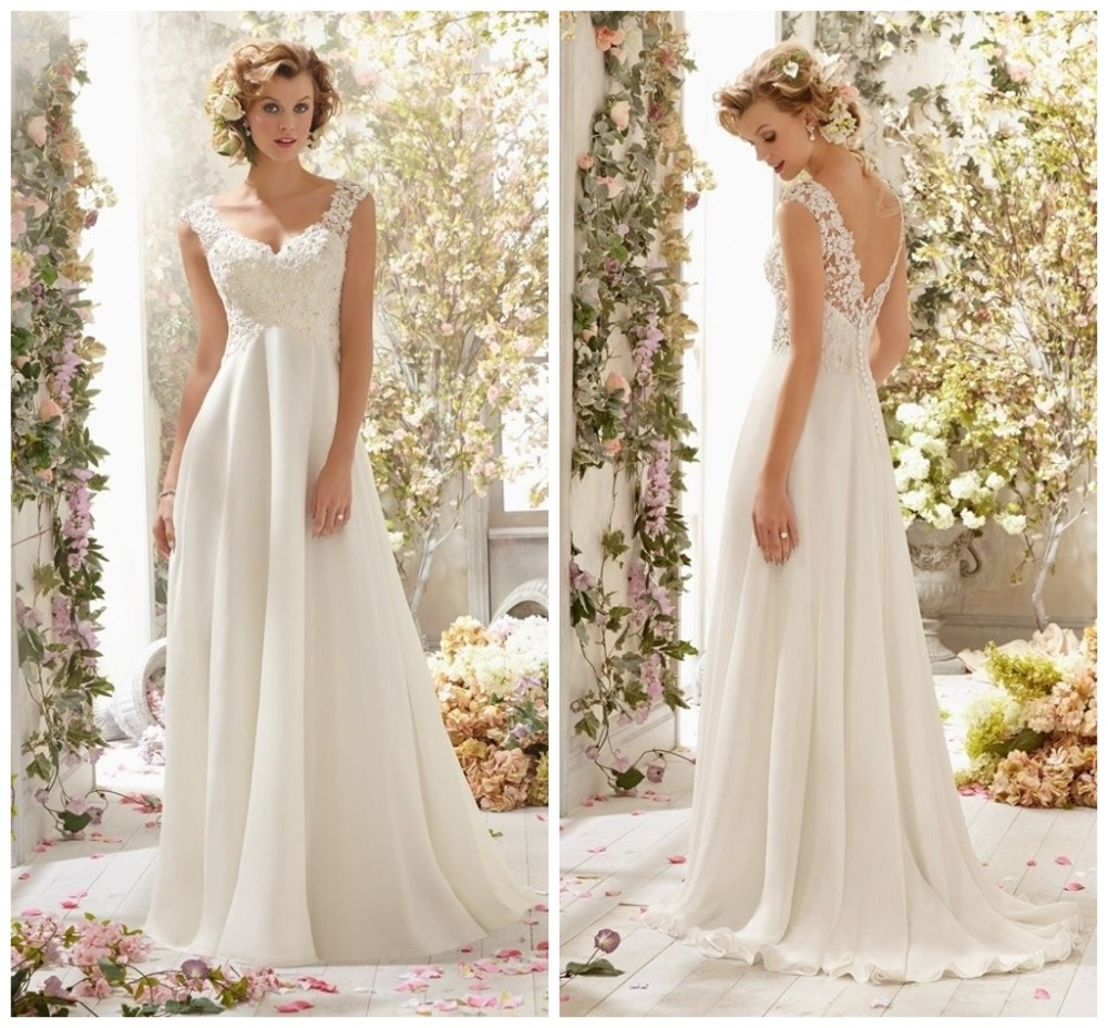 Elegant Custom Made Wedding Dresses 2016 New Fashion Backless Silk ...
