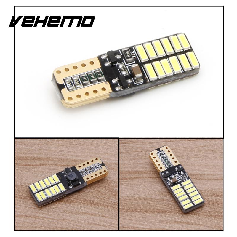 Vehemo Superbright New Car Accessaries LED Light 4014 24SMD Canbus Error Free