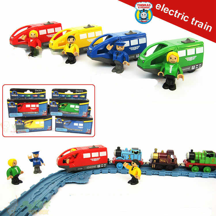 Hot Electric Magnetic Small Trains Locomotive Driver for Wooden Thomas Rail Tracks 4 Colors Free shipping -Thomas EDWONE