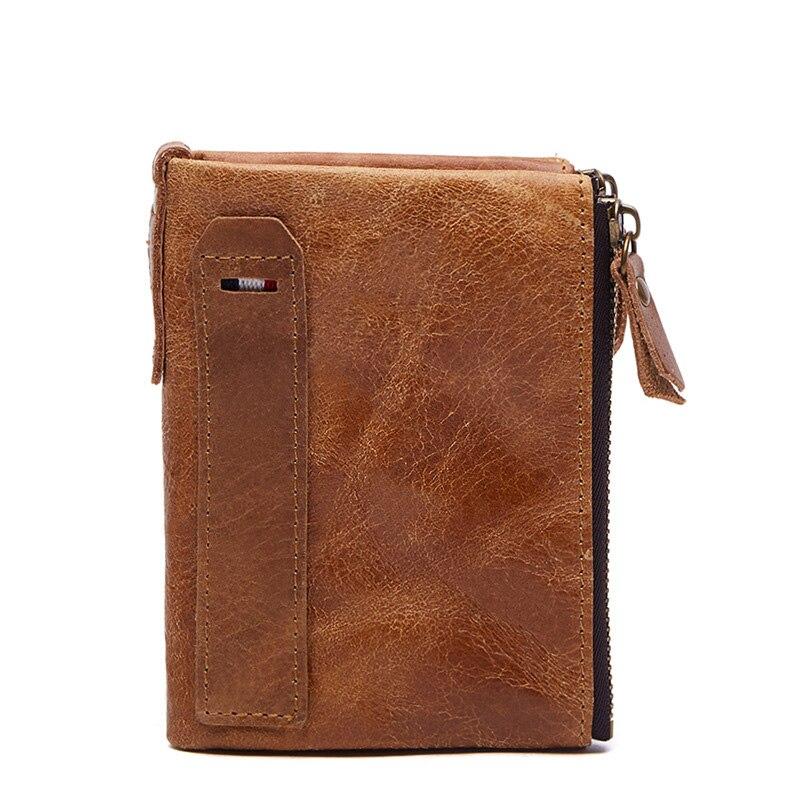 Billetera de cuero genuino clásico de los hombres del monedero de la - Monederos y carteras
