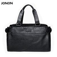 Jonon Men Bag Men Messenger Bags Mens Leather Big Size Shoulder Bag Designer Brand High Quality