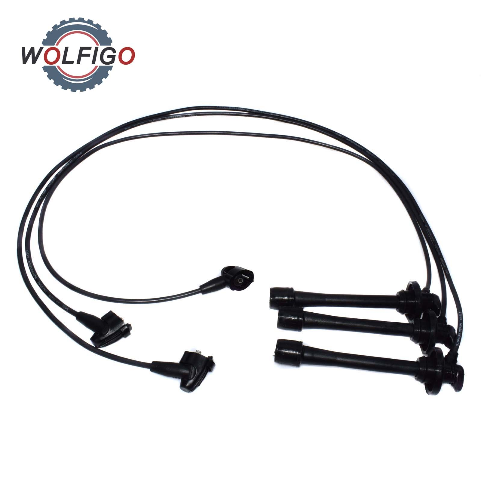 Wolfigo New 3 Pcs Ignition Cable Spark Plug Wire Set