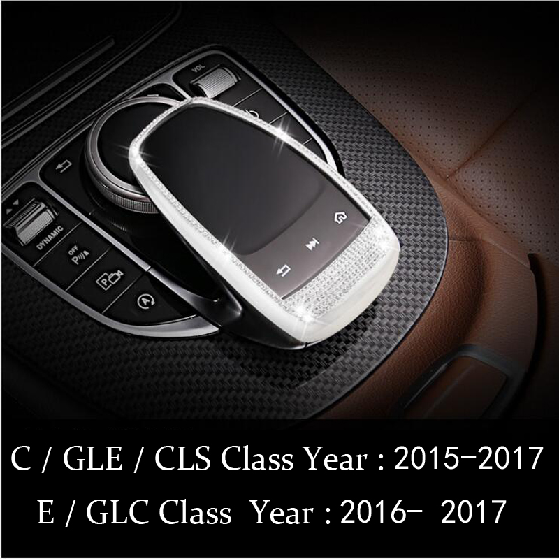 Car Control the mouse Touchpad Frame Cover sticker Car-styling For Mercedes Benz C E S Class GLC GLE CLS W205 W213 X253 W222 with type window visor vent shades sun rain guard deflector for mercedes benz gle coupe c292 2015 2016