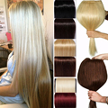 120g-200g Professional 27 inch One Pcs Full Head Clip in Hair Extensions 100% Thick Long Straight Hairpiece Cosplay Blonde