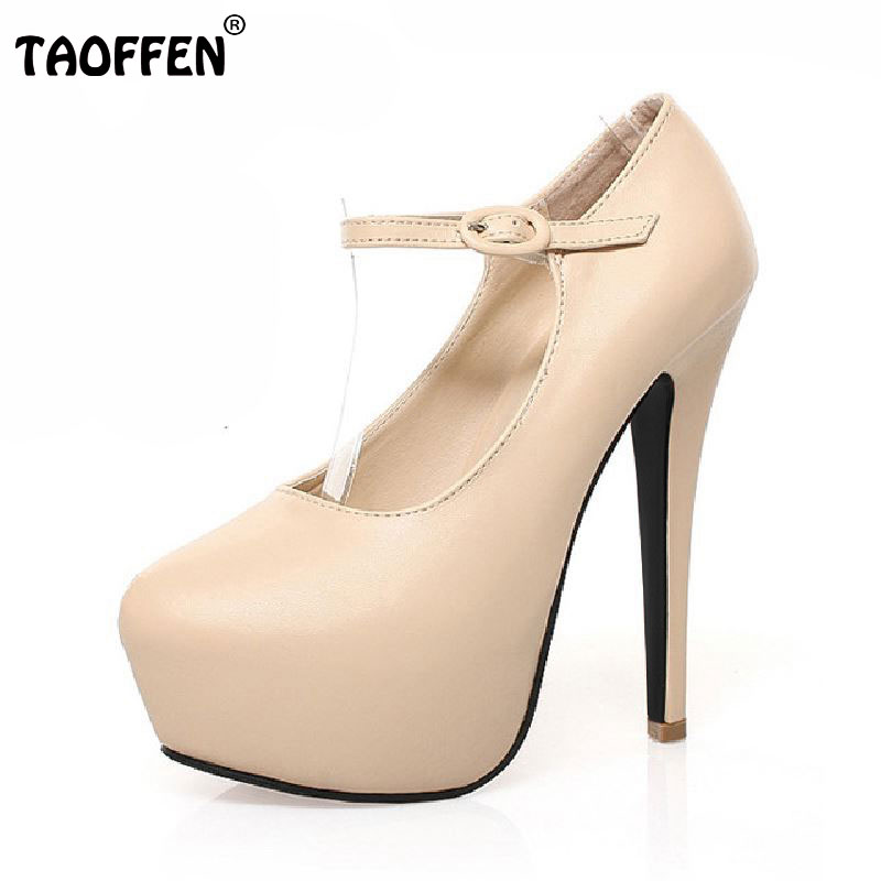 women high heel shoes sexy dress footwear fashion lady platform round toe female pumps P15948 hot sale 35-40