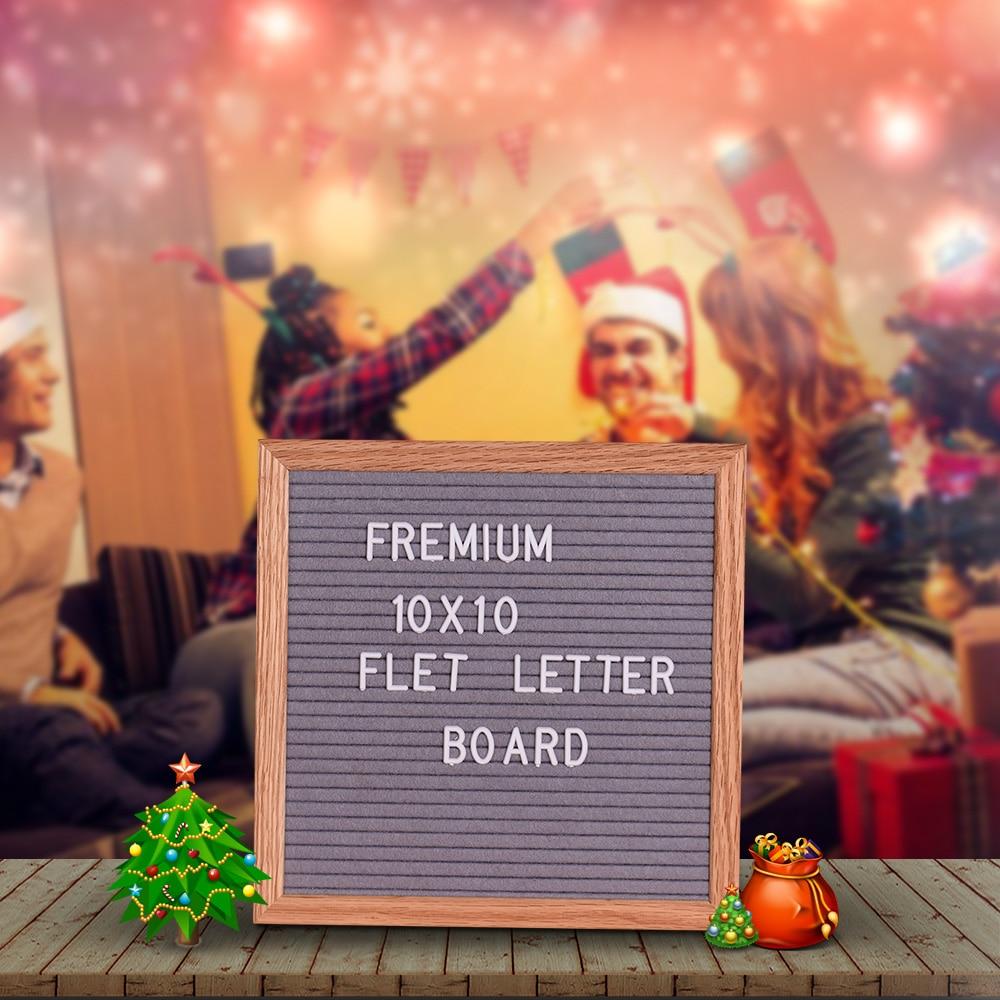 Presentation Boards Office & School Supplies Felt Letter Board Message Board Home Office Decor Board Oak Frame White Letters Symbols Numbers Characters Bag Wall Mount Hook