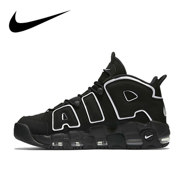 Authentic Original Nike Max Air More Uptempo Men's Basketball Shoes Breathable Comfortable Athletic Designer Footwear 902290-001