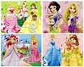4 In 1 Toys Puzzles For Children Jouet Enfant Cartoon Puzzle Children Princess, Mouse,pig,cat For Girls Gift(10*14cm)