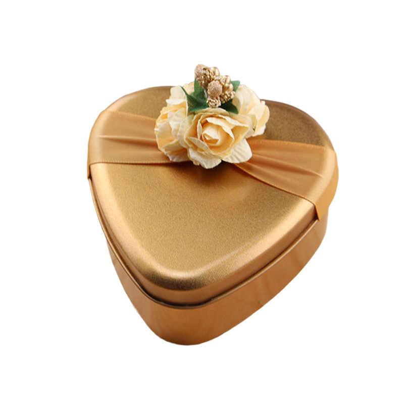 Boîte en fer blanc bonbons Cookie boîte cadeau sac fête d'anniversaire bonbons emballage boîte sac pour mariage petite amie saint valentin cadeau