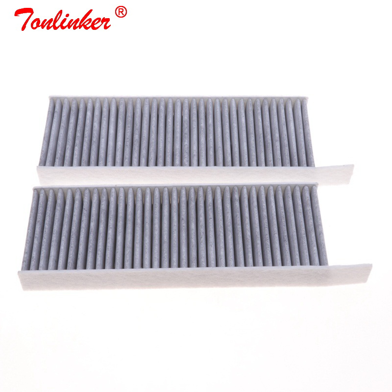 Cabin Filter 2Pcs For Peugeot 308 II 1.2THP 1.6 HDI 2.0 Model 2013 2014 2015 2016 2017 2018 2019 Car Carbon Filter Accessories-in Cabin Filter from Automobiles & Motorcycles