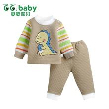 2017 New Winter Baby Clothing Set Striped GG Brand New Bebes Shirt Pants Warm Newborn Girl Boy Clothes Set Cute Roupas Infantil
