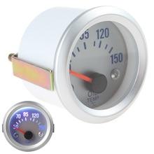 2 52mm 50~150 Celsius Degree Oil Temperature Meter Gauge with Sensor for Auto Car