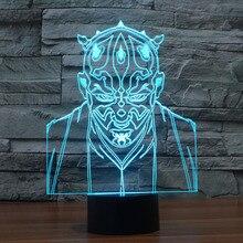 Star Wars font b 3D b font Villain Jedi font b Led b font Night font