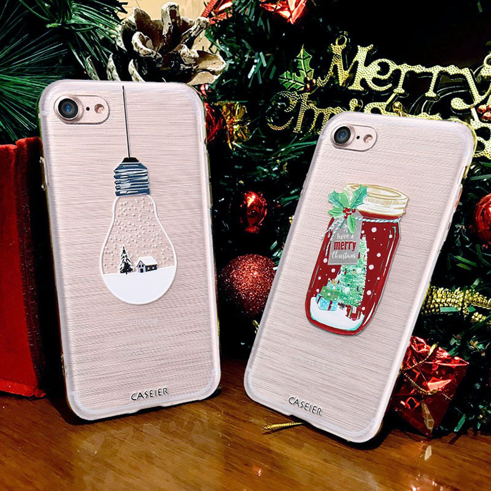 Iphone 6 Plus Christmas Case.Us 2 25 55 Off Caseier Christmas Case For Iphone X 6 6s Plus New Year Gift Soft Tpu Cover For Iphone 6 6s Plus X 3d Painting Cases Fundas Capa In