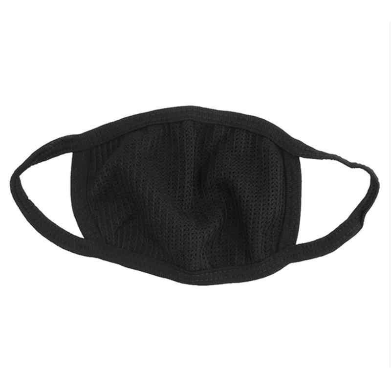 1 pc preto algodão anti-poeira máscara facial ciclismo vestindo flue rosto boca máscara unissex boca muffle respirador máscara facial