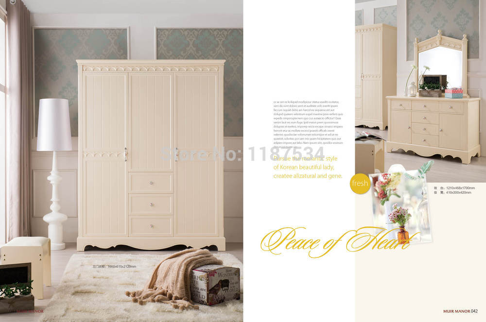 8116 Home bedroom furniture wooden wardrobe chest chifforobe modern home bedroom furniture