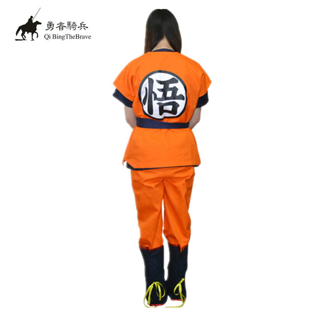 Dragon Ball Z GoKu Cosplay set Traje Fantasia roupas festa de Halloween  adulto traje cosplay Japão f620db28baf3