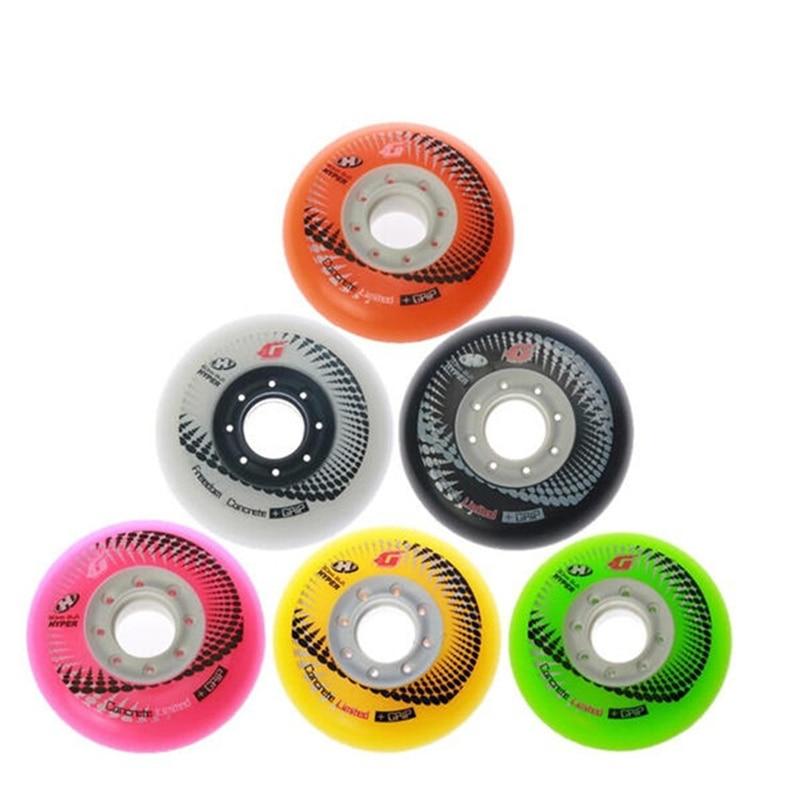 4 Pcs Hyper +g Concrete Skating Wheels For Seba Rb Inline Skates Fsk 84a 72 76 80mm Sliding Patins Delaying Senility
