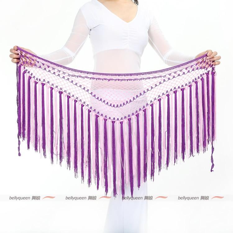 NEW! Tassel Belly Dance Costumes Senior Sexy Colors Short Tassel Belly Dance Belt For Women Belly Dance Hip Scarf Accessories