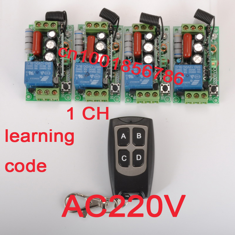 220V 1CH RF Wireless Remote Switch Receiver&Transmitter Light Lamp LED SMD ON OFF Switch10A Relay Momenrary Toggle 315/433.92 hot sale 1ch ac 220v rf wireless mini switch relay receiver 5ch remote controllers lighting led lamp on off learning switch