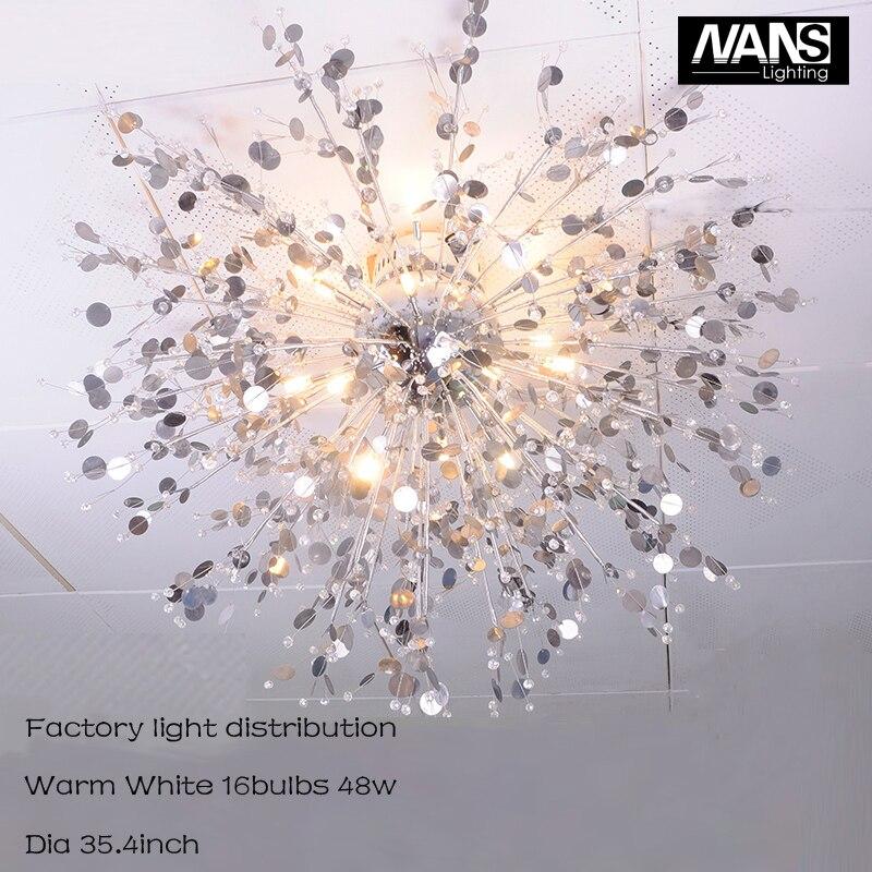 NANS Moderne Kristall Celling Licht Lster De G4 Led Lampe 48 Watt Leuchten Und Wohnzimmer