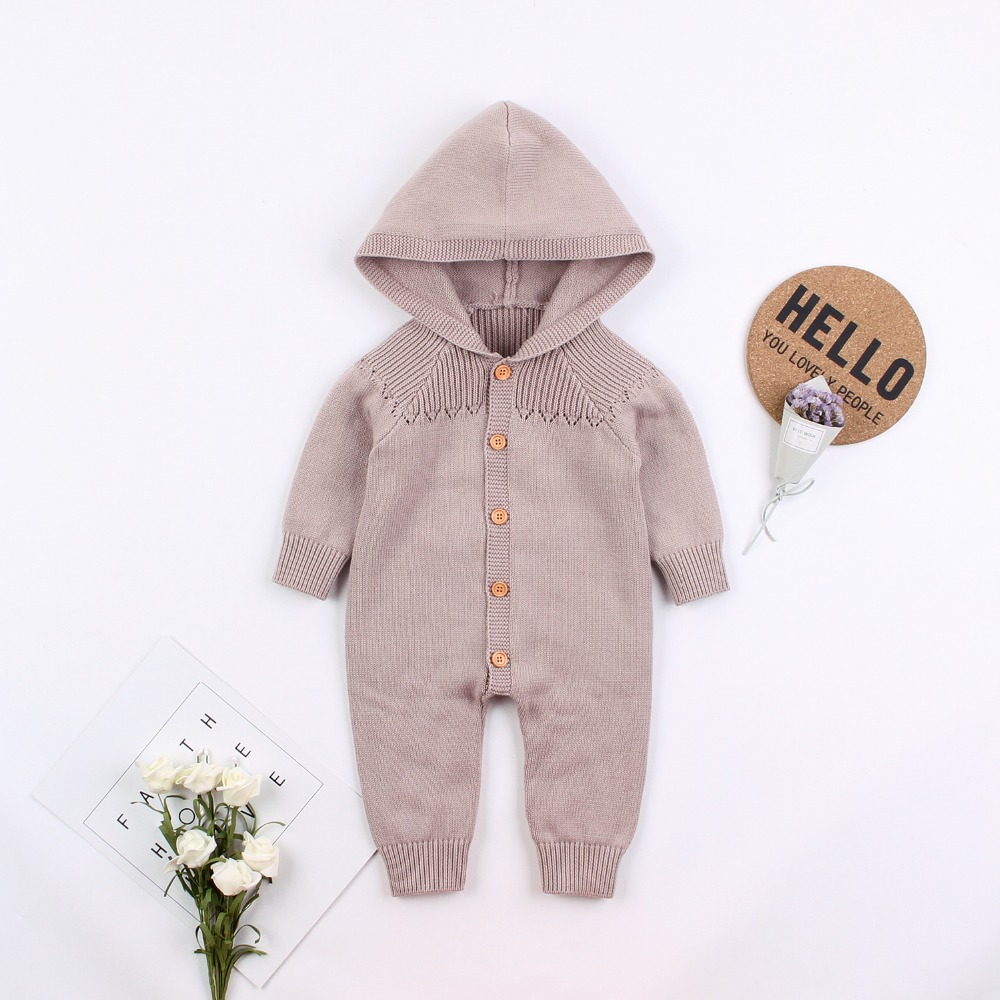 Baby Boys Girls Rompers Clothes Autumn Knitted Infant Long Sleeve Jumpsuits Children's One Piece Overalls 0-18M Newborns Outfits