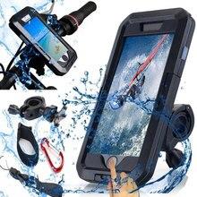 Motorrad Unterstützung Telefon Halter Wasserdichte Fall 360 Drehung Halter für iPhone XS 11 Pro Max XR 5 6 7 8 plus Telefon Stehen Fahrrad