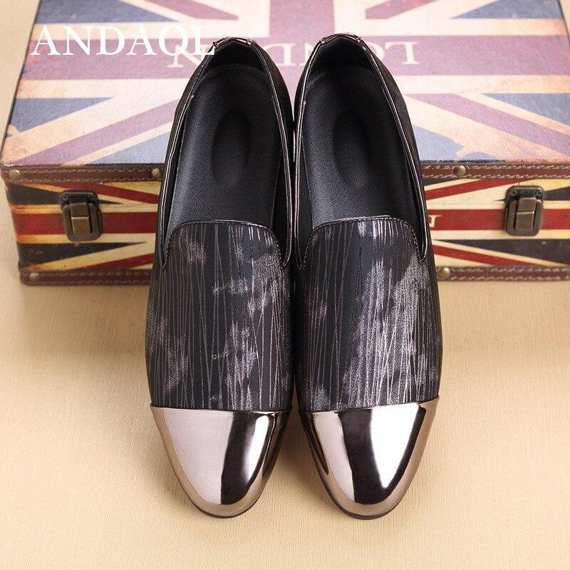 3fd674800 cinza Luxo Calçados Prova Superior Vestido Ouro Mocassins Dourado D'  Apartamentos Água Sapatos Listrado Couro De ...