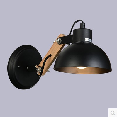 Nordic Modern LED Wall Light Fixtures Black/White Lampshade Wooden Beside Lamp Wall Sconce Arandela Lamparas ParedNordic Modern LED Wall Light Fixtures Black/White Lampshade Wooden Beside Lamp Wall Sconce Arandela Lamparas Pared