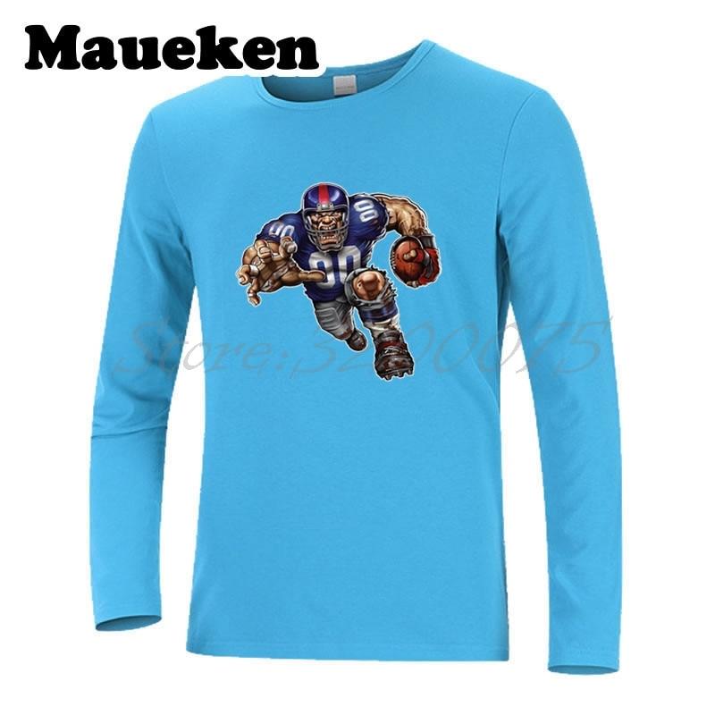 Men Long Sleeve Strong New York Defiant Giant Autumn Winter T-Shirt T Shirt for Giants fans Comic Cartoon Mens W18010121