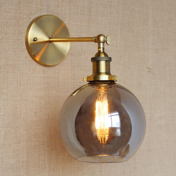 American Vintage Wall Lamps Glass Ball Retro Loft Wall Sconces Bedroom Living Room Hallway Light Fixtures Arandela De Parede rh american country vintage wall lamp lights fixtures glass ball retro loft industrial wall sconces wandlamp arandela de parede