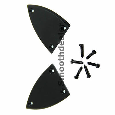 Black Truss Rod Cover With Screws For Guitar 3 Holes Guitar Parts Accessories