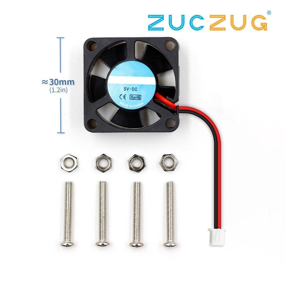Ventilador refrigerador raspberry pi, ventilador e radiador sem escova maglev 30*10mm dc 5 v para raspberry pi 2 ras pi3 b pi 3b pi 3 b