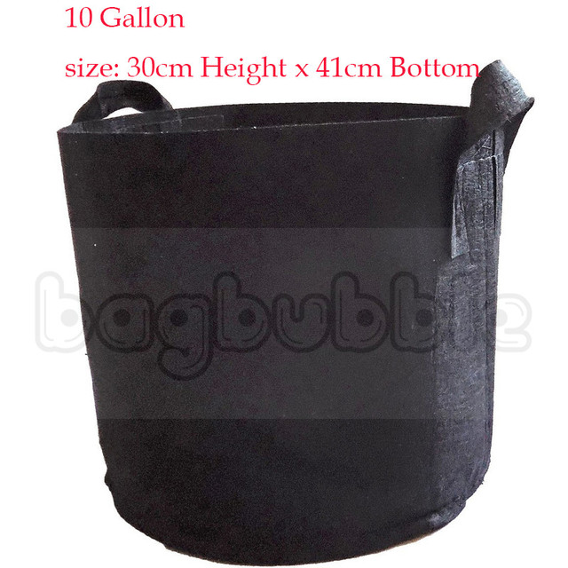 10 gallon grow bag aeration fabric pots with handles black outdoor black container gardening planter pot