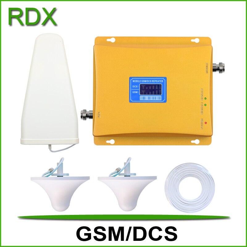 Pour 2 pièces à gain élevé 65 dB nouvelle double bande gsm 900 mhz 4G dcs 1800 mhz pour amplificateur répéteur de signal de téléphone portable en gros