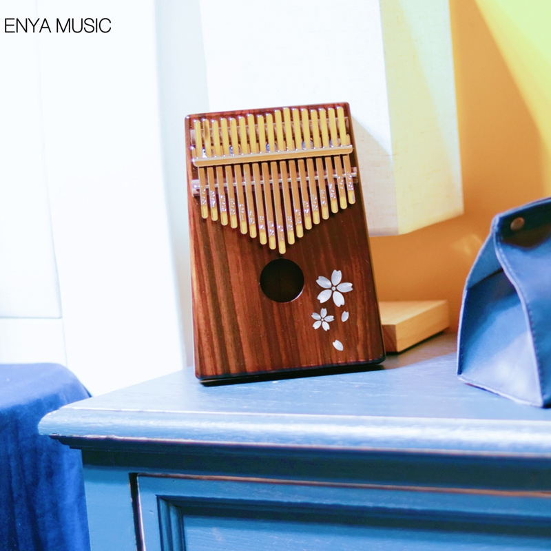 Enya 17 Toetsen Kalimba met bag Solid Mahonie Palissander Bamboe Duim Piano Mbira Calimba muziekinstrumenten - 2