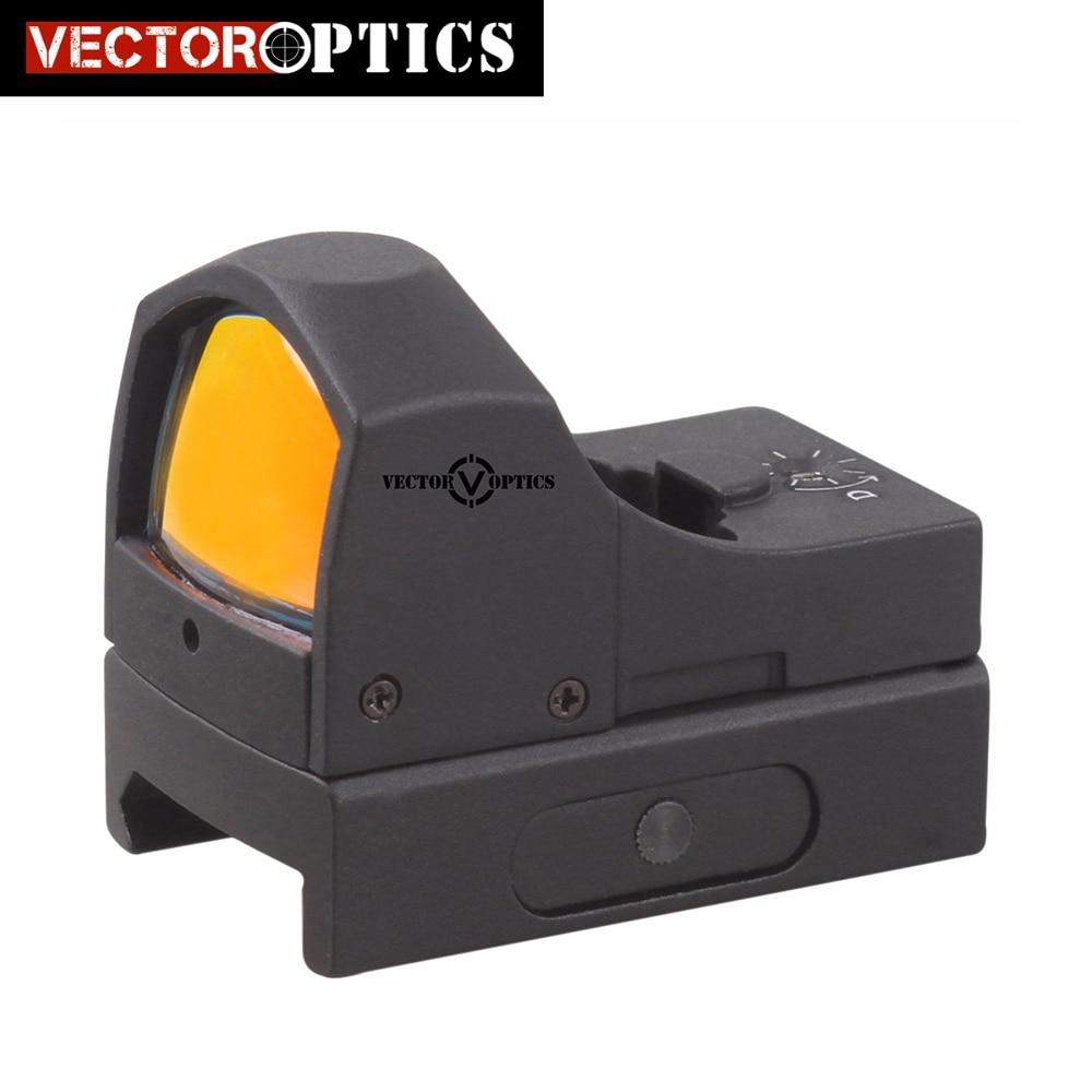 Ótica do vetor Esfinge 1x22 Auto Brilho Compact Red Dot Sight Scope Doutor 3 MOA 9mm Pistola 12ga espingarda Mira Reflex