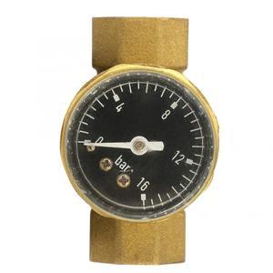 Image 2 - Válvula de alívio de pressão, válvula reguladora de 1/2 polegadas de bronze para redução de pressão de água com medidor de calibre, ajustável, fluxo de água