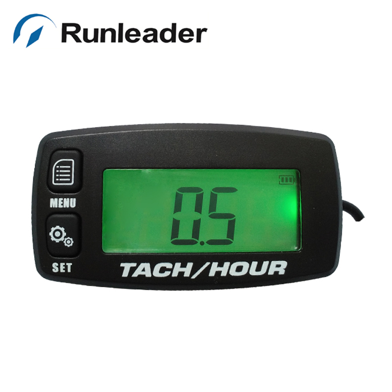 Gas Engine MX backlit Hour Meter Tachometer for motocross glider Motorcycle Marine Boat ATV Snowmobile Generator Mower JET SKI