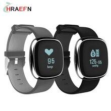 Hraefn Smart Группа Р2 Кровяное Давление Монитор Сердечного ритма Smartband спорт Браслет Шагомер Фитнес-Трекер часы для Android IOS