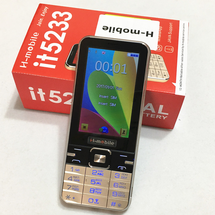 it5233 dual SIM dual standby mobile phone 3 2 inch screen cell phone Russian keyboard phone