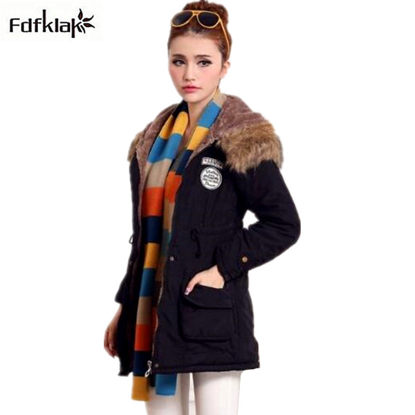 2017 New women's winter jacket fur collar hooded coat female cotton-padded women winter coat plus size parkas XXL XXXL A330 aishgwbsj winter women jacket 2017 new hooded female cotton coats padded fur collar parkas plus size overcoats pl155