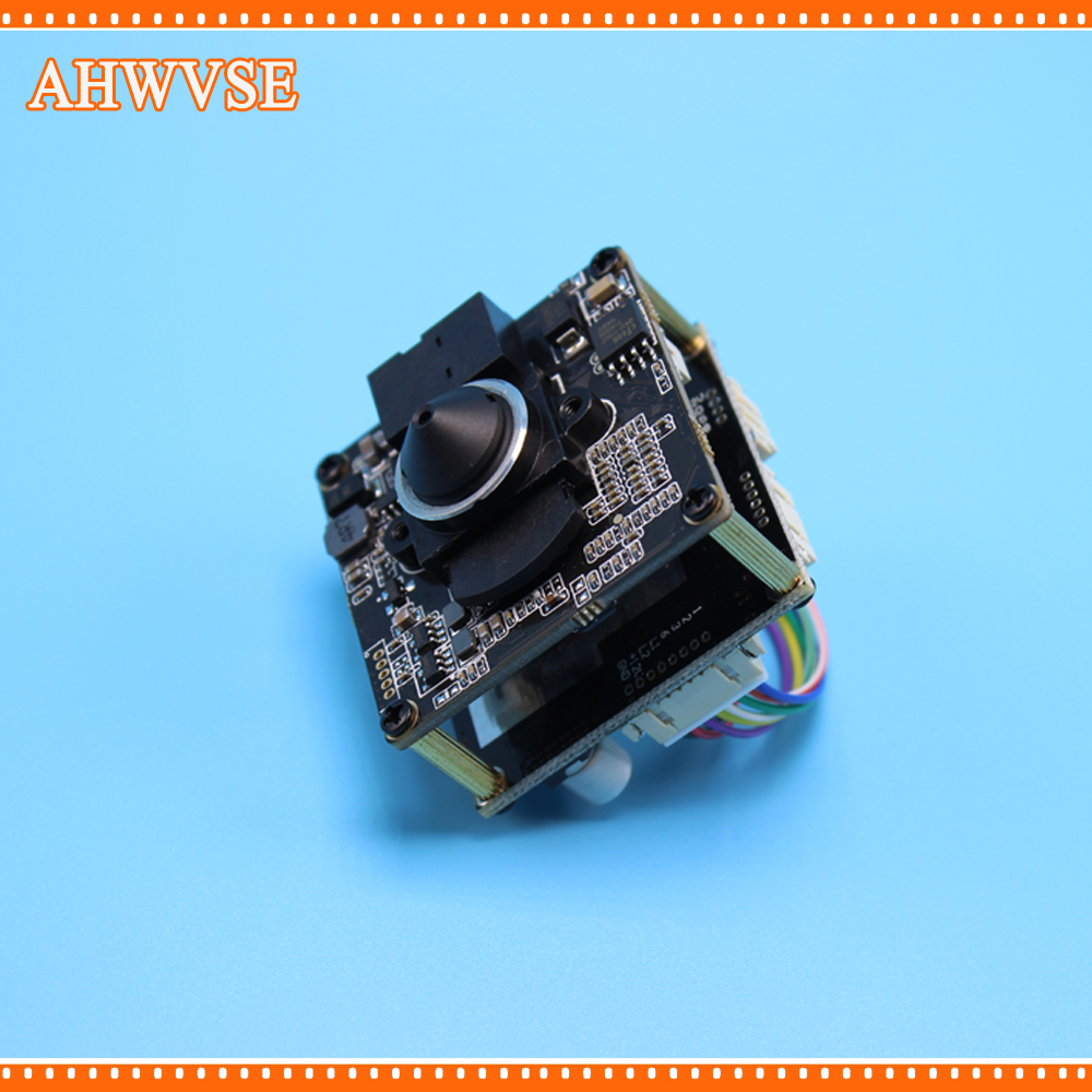 AHWVSE High Resolution 1920*1080P 720P 960P HD POE IP camera module board Pinhole 3.7mm LENS with LAN cable