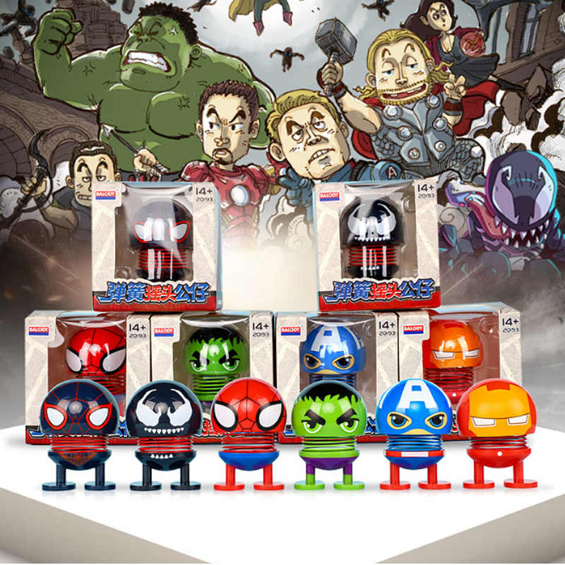 Hot 4 Vingadores Homem de ferro Capitão América do balanço Criativo bonito boneca carro ornamentos decoração de interiores Spiderman action figure brinquedos