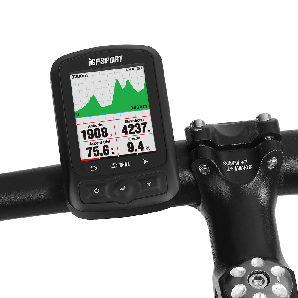 iGPSPORT <font><b>Bike</b></font> Computer Cycling Bicycle Odometer Cycling <font><b>GPS</b></font> Computer IGS618 ANT+ Function with Road <font><b>Map</b></font> Navigation with Mount image