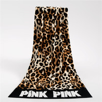 Fashion Sunbathe Leopard Printed Beach Towels Rectangle Women Yoga Towel Swimming Wrap Blanket Quick Dry Bath