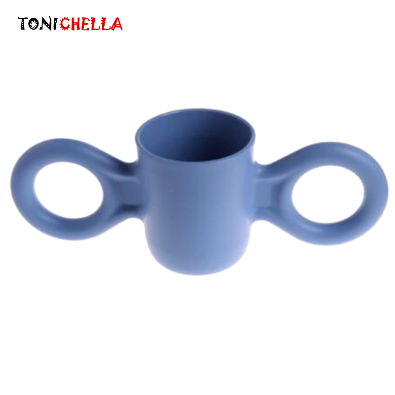 Baby Big Ears Bottle Children Training Water Cups Learn To Drink Mug Infant Tableware Large Handle Feeding Candy Color T0532